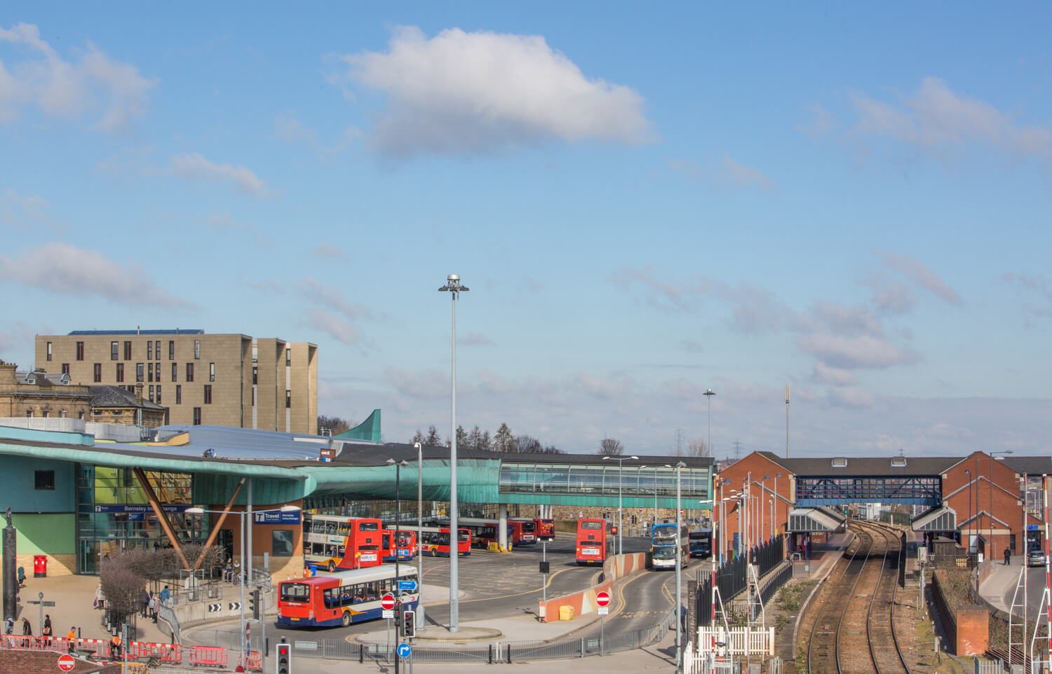 Barnsley Interchange bus and train station