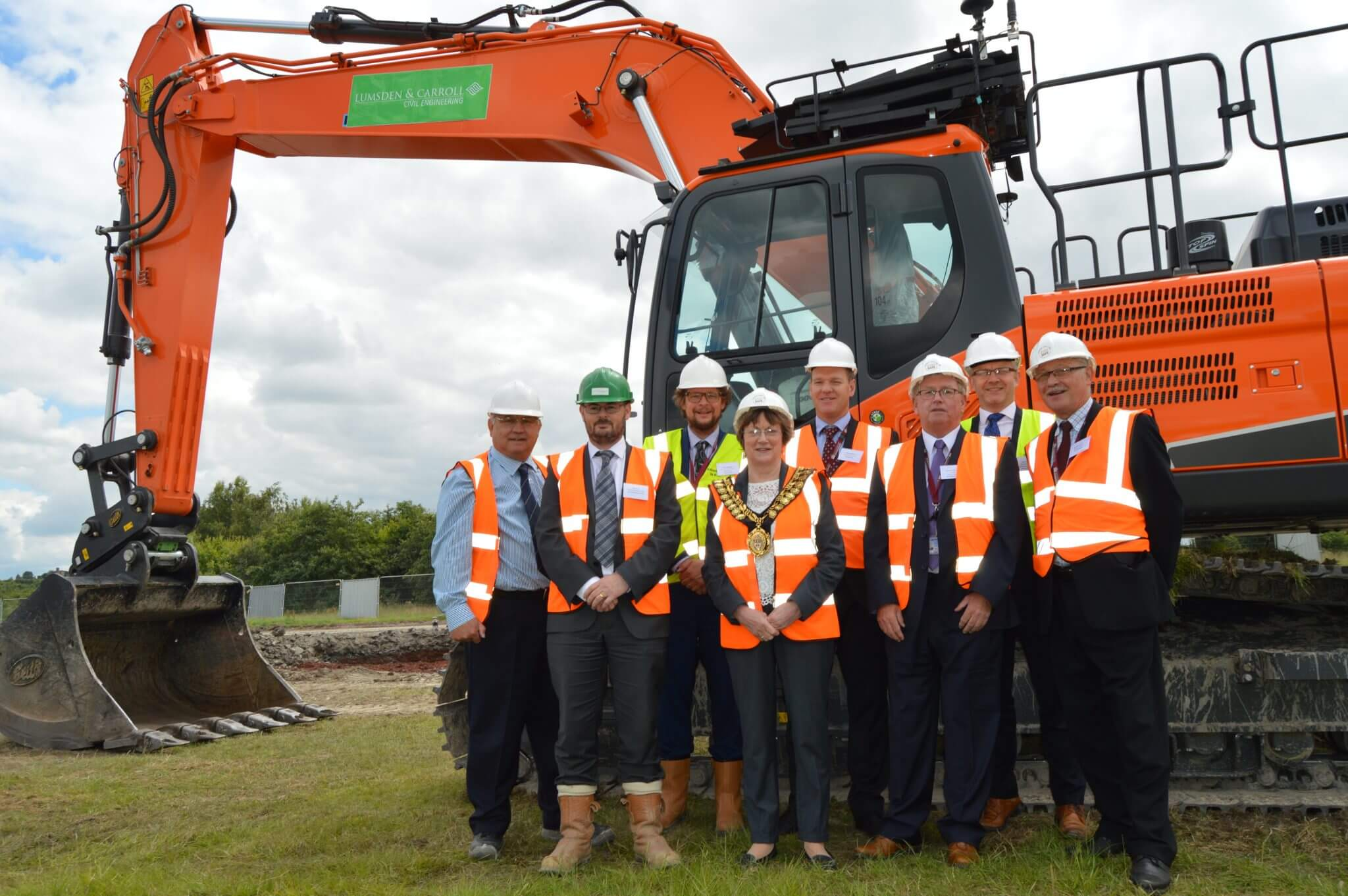 Ground-breaking ceremony welcomes the start of major road improvements and future opportunities