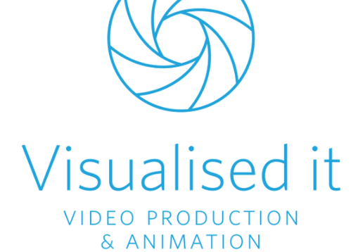 Visualised it video production & animation logo