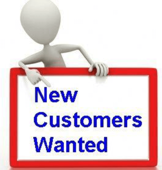 New Customers Wanted