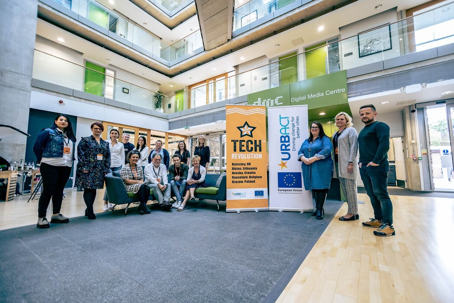 European visitors inspired by Barnsley's digital campus